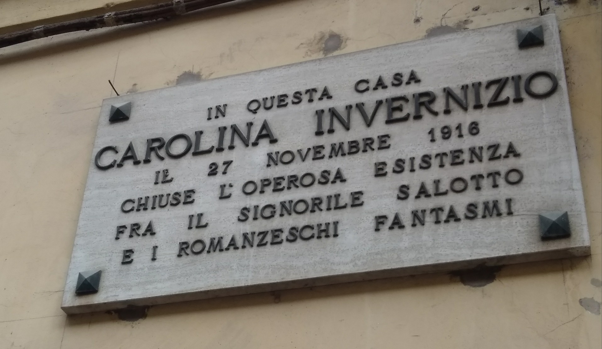 lapide Invernizio Carolina